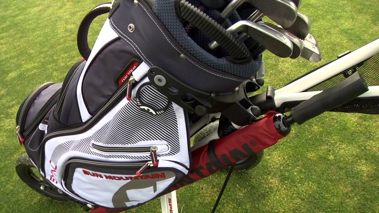 Sun Mountain Sync Golf Cart Bag Youtube