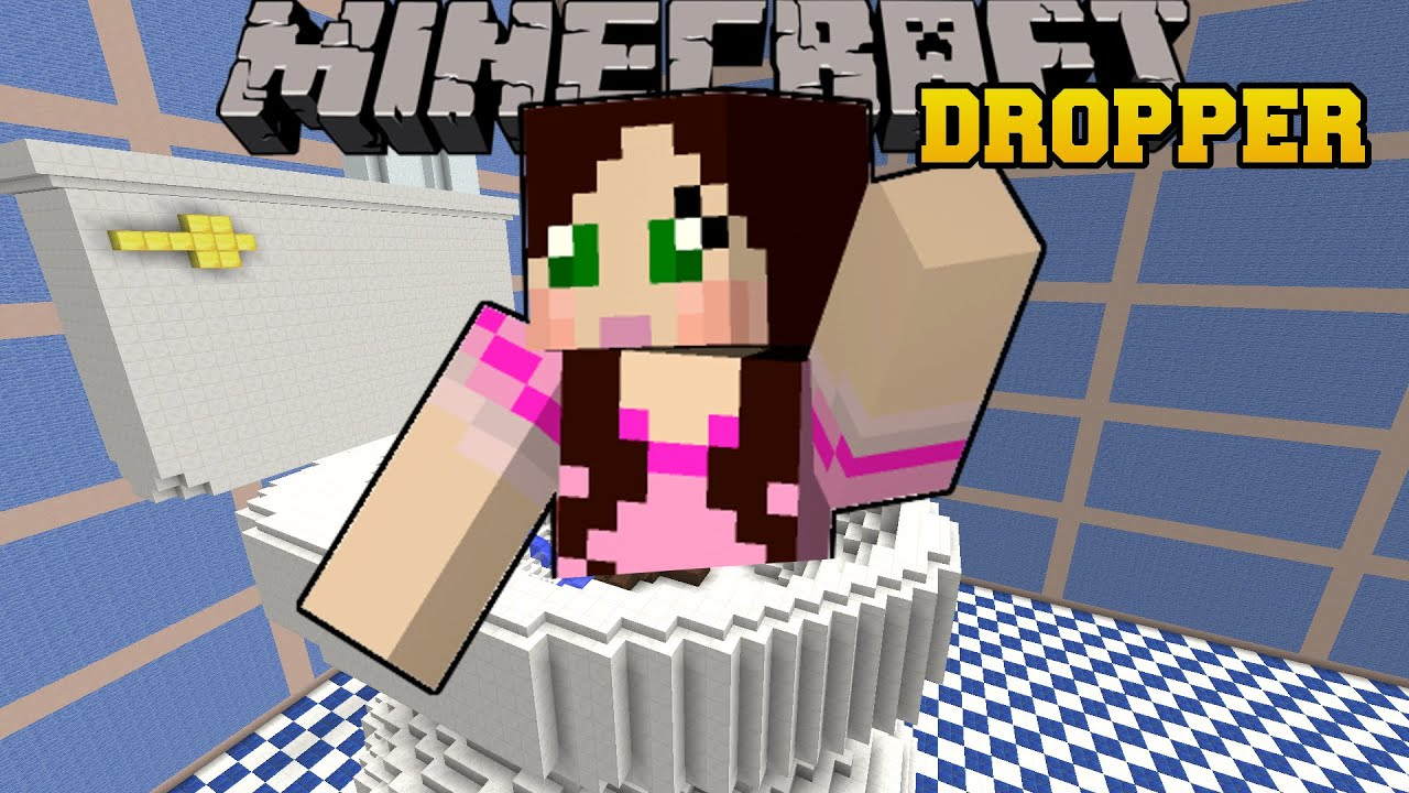 Minecraft: DROPPING INTO A TOILET!   TALLCRAFT DROPPER   Custom