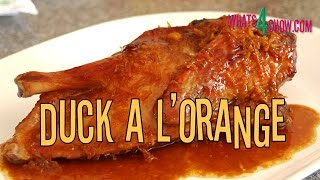 Duck A L'orange. Roasted Duck With Orange Sauce. Traditional French Duck Recipe.