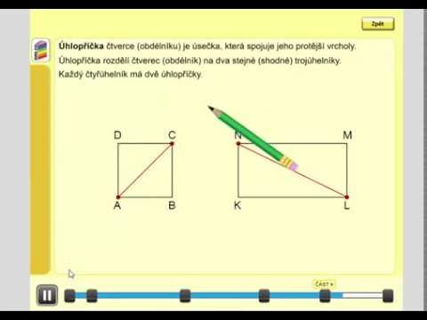 Čtverec, obdélník (úhlopříčka), Geometrie pro 4.ročník, str. 26, úvod C