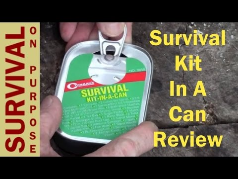 survival kit in a can review survival gear youtube