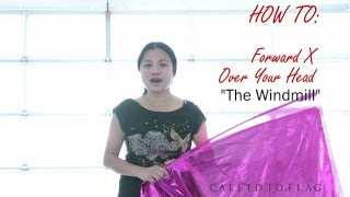 Tutorial Worship Flags Dance (How to: The Windmill) CALLED TO FLAG Praise ft Claire