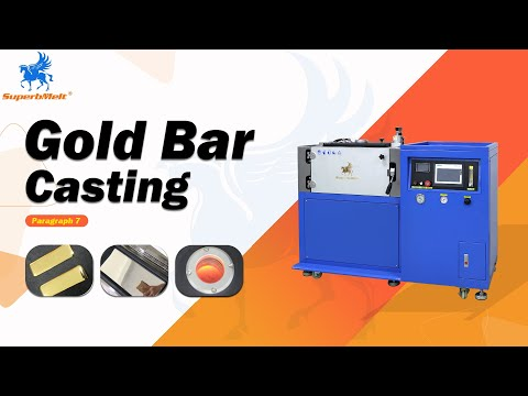 Vacuum Gold Bar Casting Machine for High Quality Gold/Silver Bullion/Ingot Making - SuperbMelt