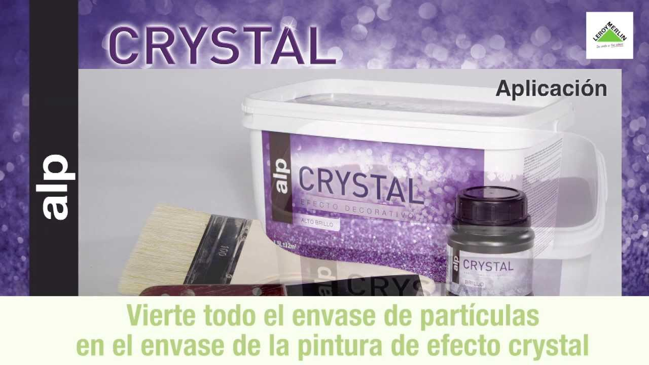 Pintura de efecto crystal youtube - Efectos decorativos para paredes ...