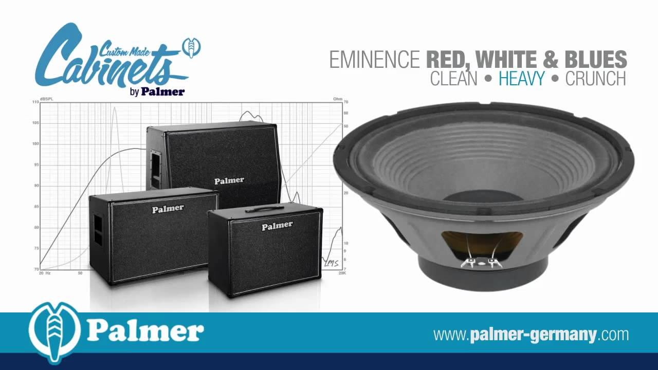 palmer custom made cabinets with eminence red white blues speaker chassis youtube. Black Bedroom Furniture Sets. Home Design Ideas