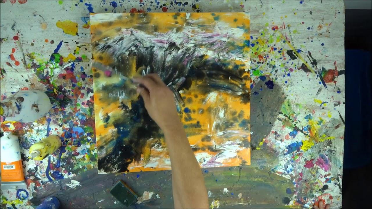 tutorial abstrakte kunst (10) - wir malen ein bild - acryl spachtel