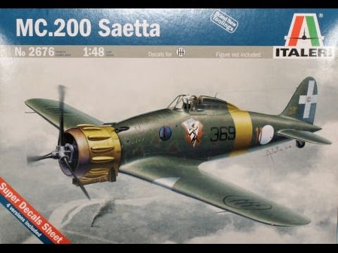 "AlexModelling ""OUTBOX REVIEW 1/48 ITALERI MC-200 SAETTA"