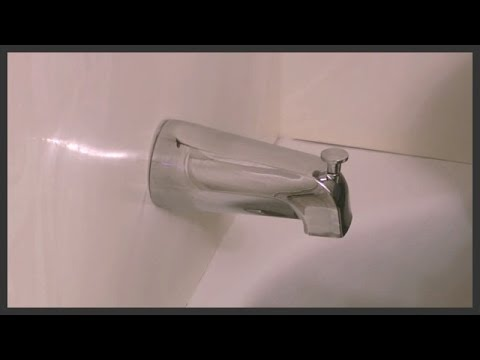 Universal tub diverter spout installation