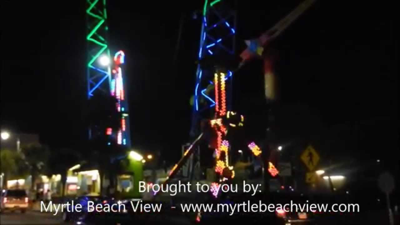 Myrtle Beach Boardwalk Amusement Rides Night