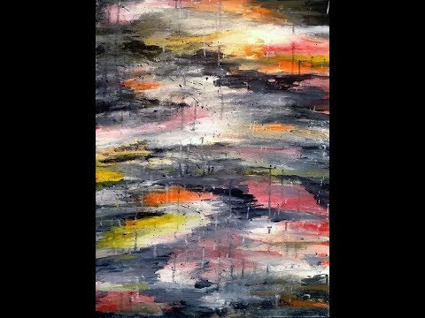 Raindrops – Acrylic Abstract Painting Lesson – Full Length
