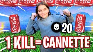 1 KILL = 1 CANETTE POUR CE GAMIN DE 10 ANS SUR FORTNITE !