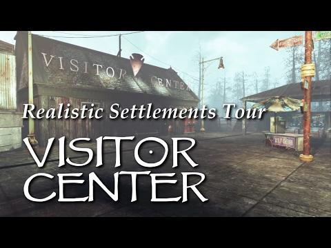 Settlement Tour ep33 National Park Visitor's Center - Far Harbor - PS4