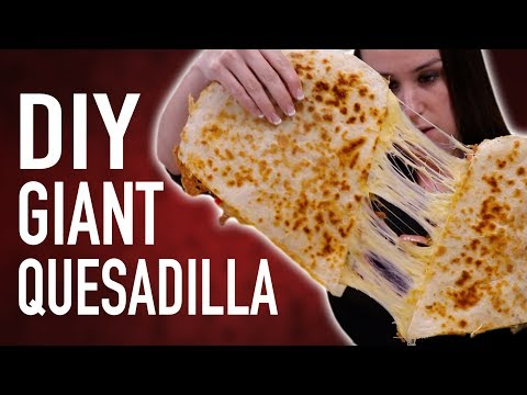 DIY GIANT QUESADILLA + EATING COMPETITION