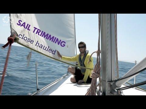 Learn Sailing- Sail Trimming close hauled