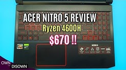 ACER NITRO 5 REVIEW  - RYZEN 4600H - BEST BUDGET GAMING LAPTOP
