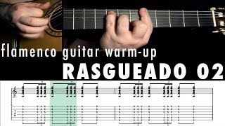Flamenco Guitar Warm-up 10 - Rasgueado 2