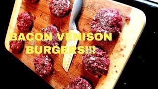 Bacon Venison Slider  (My Favorite WILD GAME Recipe!!!!)