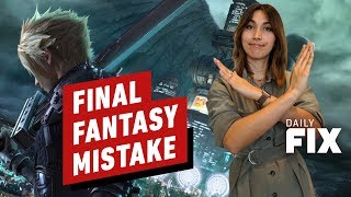 Final Fantasy 7 Remake On Xbox Was a Mistake - IGN Daily Fix