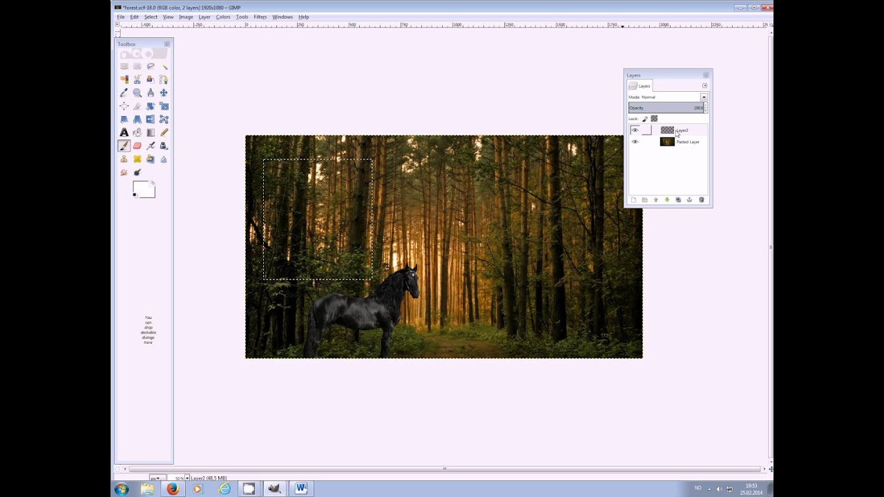 How to make a layout with GIMP for Howrse - YouTube  Layout