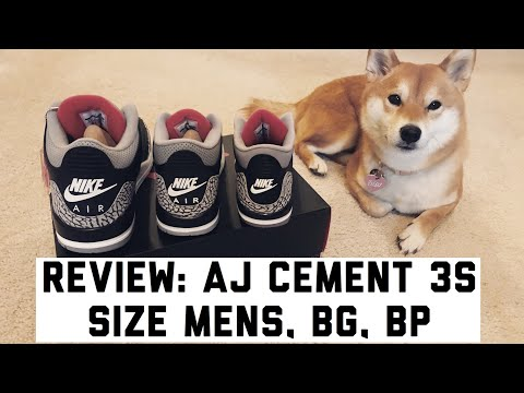 AJ Cement 3s Mens, Grade School, Preschool Size L Gricelduh