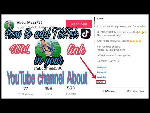 How to add TikTok URL link on your YouTube Channel about |Tech with Tube|