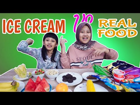 Ice Cream vs Real Food Challange