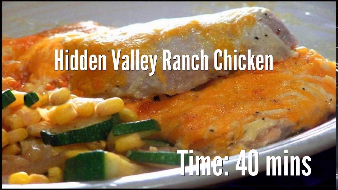 Hidden Valley Ranch Chicken Recipe Youtube