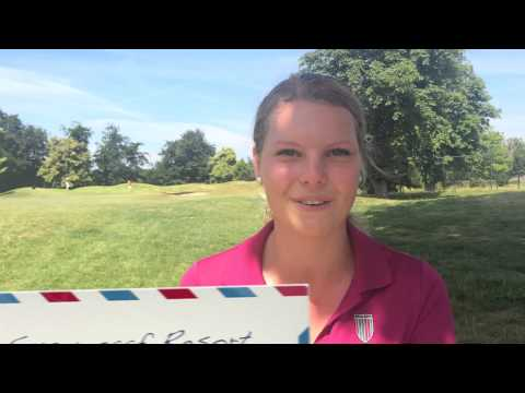 Roos Haarman inspireert jeugdgolfers