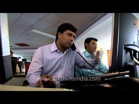 Electronic trading system at Bombay Stock Exchange, Mumbai