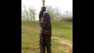 Креативный подсвечник - деревянная садовая скульптура