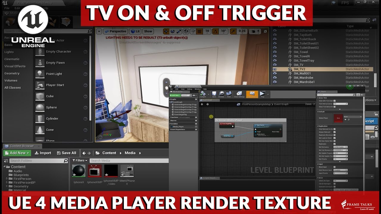 UE4 Media Player to Render a Media Texture [TUTORIAL]