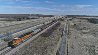 Aerial of West Texas - BNSF Railway