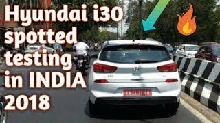 Hyundai i30 spotted testing in india EXCLUSIVE 2018   Car Guru  
