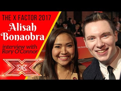 Alisah Bonaobra interview with Rory O'Connor | The X Factor 2017 | @OfficialAlisah @RoryOConnorTV