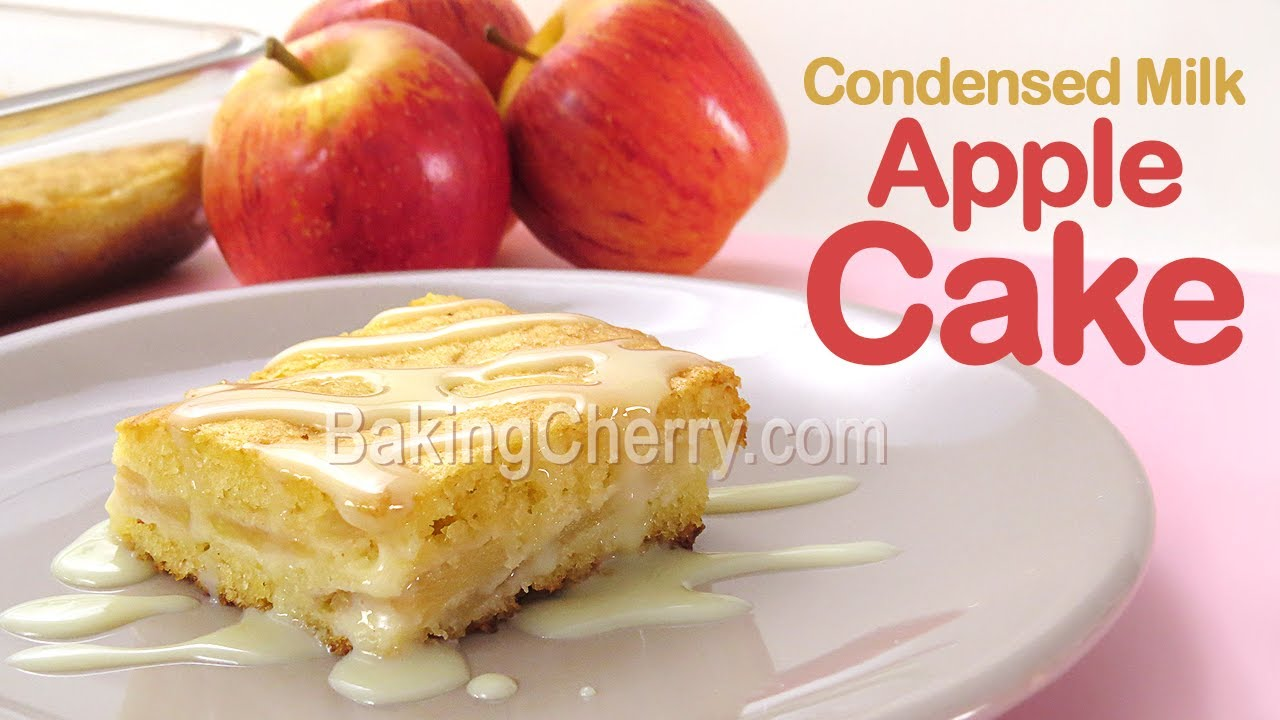 CONDENSED MILK APPLE CAKE Recipe | How to make a delicious apple cake at home | Baking Cherry