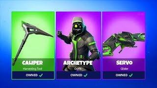 NEW ARCHETYPE SET SKIN 3D MODEL! (Leak) Fortnite Battle Royale