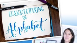 Handlettering lernen - Das Alphabet (Teil 1) Buchstabe A [Deutsch]
