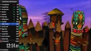 [OLD] Crash Bandicoot 100% Speedrun 1:11:54 (NTSC-J, Emulator)