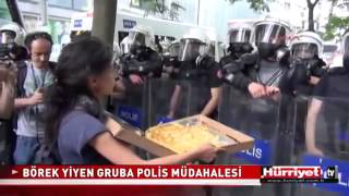 Börek ikramına biber gazı! İstanbul Gezi Parkı