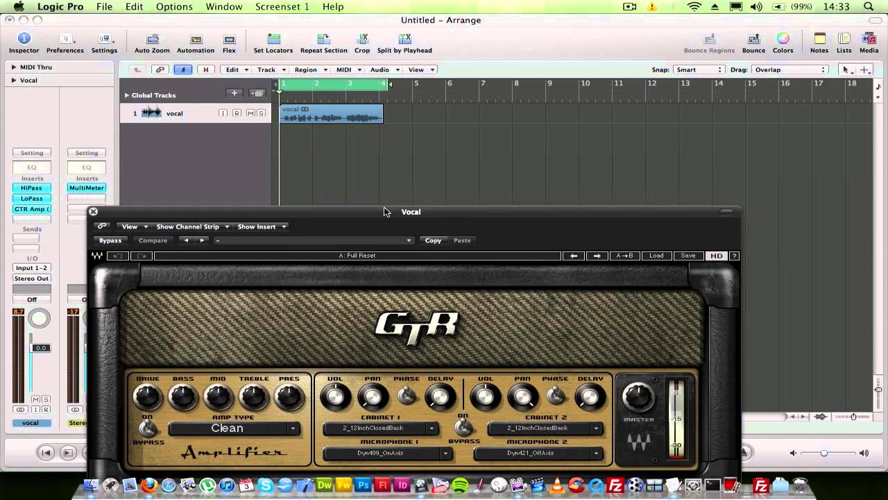 telephone distortion effect on vocal in logic pro 9 youtube. Black Bedroom Furniture Sets. Home Design Ideas