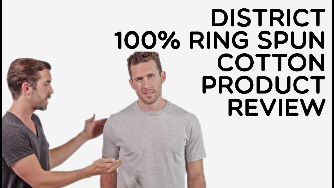 6cfd07260 Custom District 100% Ring Spun Cotton T-Shirt Product Review - YouTube
