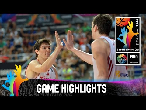 Turkey v Australia - Game Highlights - Round of 16 - 2014 FIBA Basketball World Cup