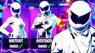 NEW WHITEOUT AND OVERTAKER SKINS IN THE FORTNITE BATTLE ROYALE ITEM SHOP!