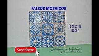 Como hacer Falsos Mosaicos