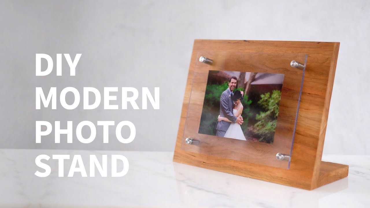 DIY modern wood & acrylic photo stand w/ the HP ENVY Photo Printer ...