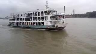 নদীর বুকে প্রিন্স সোহাগ লঞ্চ। Shohag launch Dhaka-Patabunia