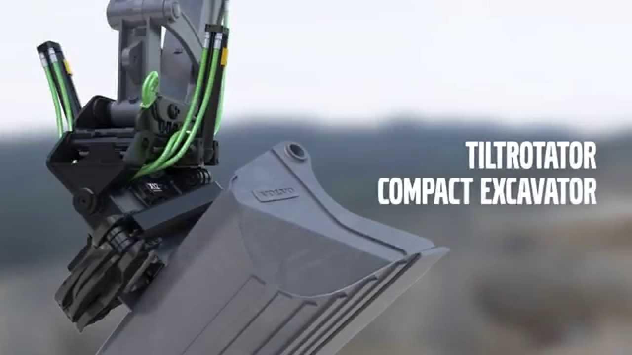 New Volvo Compact Excavator Tiltrotator Youtube