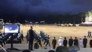 Academia Militar de Oficiales de Tropa C/J Hugo Rafael Chávez Frías desfila en el patio de la UMBV