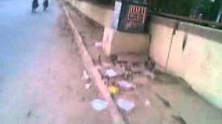 Makarba Road Vejalpur Ahmedabad Broken Footpath for last few months after Torrent Power laid underground cables  15042011