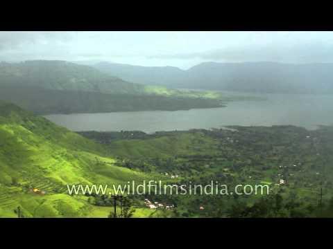 Panchgani - verdant view of valley of the Krishna river